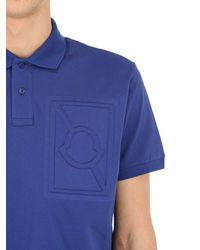 メンズ Moncler Genius Craig Green コットンポロシャツ Blue