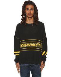 メンズ Off-White c/o Virgil Abloh コットンブレンドニットセーター Black