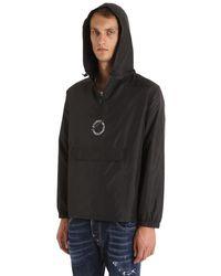 Stussy Black Nylon Pop Over Jacket for men