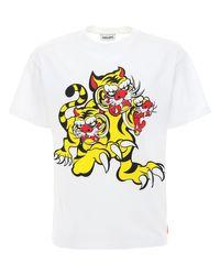 メンズ KENZO Tiger コットンtシャツ White