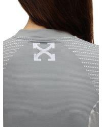 Off-White c/o Virgil Abloh テクノジャージーtシャツ Gray