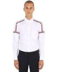 Camicia In Cotone Oxford di Thom Browne in White da Uomo