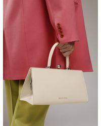 Ratio et Motus Sister Frame Leather Top Handle Bag Multicolor