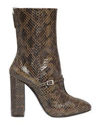 N°21 - Natural 100mm Elaphe Snakeskin Ankle Boots - Lyst