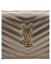 Saint Laurent Multicolor Small Quilted Metallic Leather Bag
