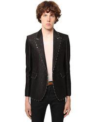 メンズ Saint Laurent ジャカードウール&シルクジャケット Black