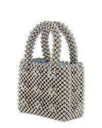 Shrimps Metallic Mini Antonia Beaded Top Handle Bag