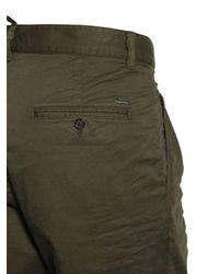 Pantalon En Toile De Coton Plissé 16.5Cm DSquared² pour homme en coloris Green