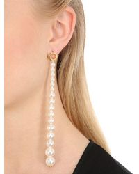 Joanna Laura Constantine - White Long Grommet Pearl Earrings - Lyst