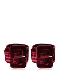 Attico | Multicolor 2 Crushed Velvet Buckled Ankle Cuffs | Lyst