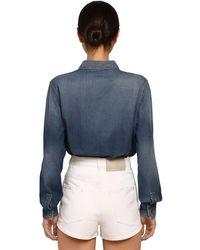 Givenchy オーバーサイズ コットンデニムシャツ Blue