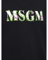 メンズ MSGM コットンジャージースウェットシャツ Black