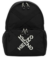 KENZO 刺繍ロゴバックパック Black