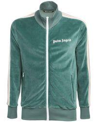 メンズ Palm Angels コットンジップスウェットシャツ Green