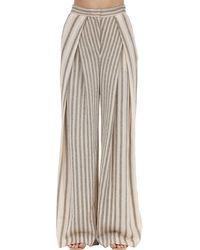 Missoni Multicolor High Waist Wide Leg Viscose Blend Pants