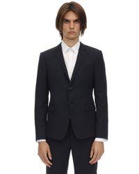 メンズ Giorgio Armani Dandy ウール シングルブレストスーツ Blue