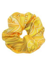 Etro Yellow Seidenscrunchie Mit Druck