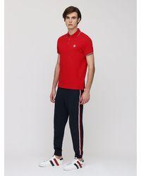 メンズ Moncler コットンピケポロシャツ Red