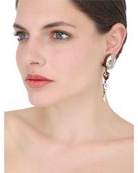 On Aura Tout Vu - Metallic Rain Crystal Earrings - Lyst