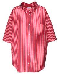 Balenciaga オーバーサイズコットンポプリンシャツ Red