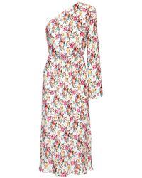 Платье С Цветочным Принтом MSGM, цвет: Multicolor