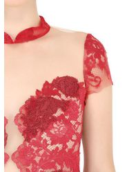 Fabiana Milazzo - Floral Embroidered Tulle Dress - Lyst