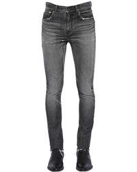 メンズ Saint Laurent スキニーデニムジーンズ 15cm Black