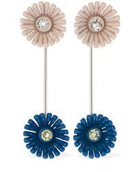 Marni Flower ピアス Blue