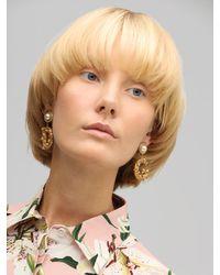 Boucles D'oreilles Clip En Perles D'imitation Dolce & Gabbana en coloris Metallic