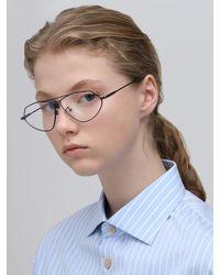 Le Specs Psyche アビエイターメタル眼鏡 Metallic