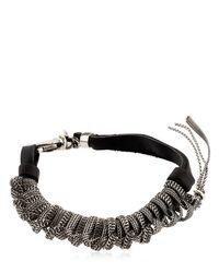 Emanuele Bicocchi - Metallic Sterling Silver & Leather Bracelet for Men - Lyst