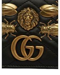 Gucci Black Gg Marmont Belt Pack W/ Metal Appliqués