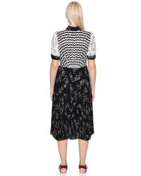 I'm Isola Marras Black Star Printed Techno Chiffon Dress