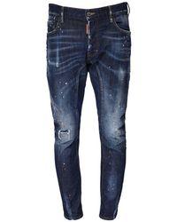 メンズ DSquared² コットンデニムジーンズ 17cm Blue