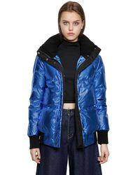 Calvin Klein Jeans - Blue Ohara Metallic Nylon Down Jacket - Lyst