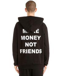 MAKE MONEY NOT FRIENDS Kapuzensweatshirt Aus Baumwolle Mit Logodruck in Black für Herren