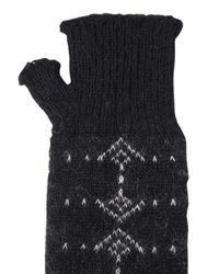 Saint Laurent Handschuhe Aus Mohair Und Wolle in Black für Herren