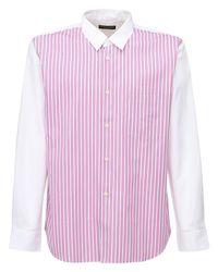 メンズ Comme des Garçons コットンポプリンシャツ Pink