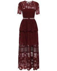 Кружевное Платье Self-Portrait, цвет: Red