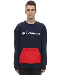 メンズ Columbia Fremont コットンブレンドスウェットシャツ Blue