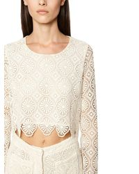 Crop Top In Pizzo Macramé di Redemption in Multicolor