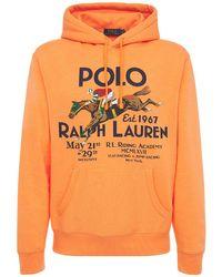 メンズ Polo Ralph Lauren Riding Academy コットンブレンドフーディー Orange
