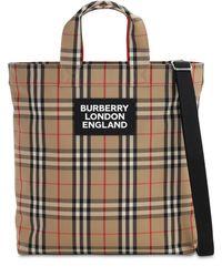 メンズ Burberry キャンバストートバッグ Multicolor