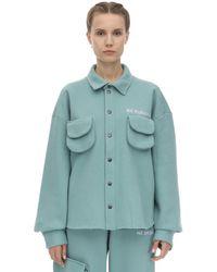 Camicia In Jersey Di Cotone di Natasha Zinko in Blue