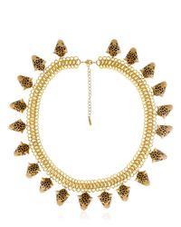 Nach - Metallic Leopard Necklace - Lyst