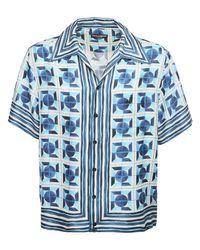 Рубашка Боулинг С Принтом Dolce & Gabbana для него, цвет: Blue