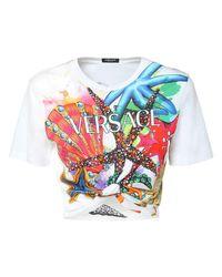 Versace コットンジャージーtシャツ Multicolor