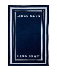 Пляжное Полотенце C Логотипом Alberta Ferretti, цвет: Blue