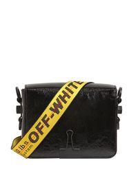Off-White c/o Virgil Abloh Black Binder Clip Patent Leather Shoulder Bag