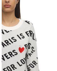 Zadig & Voltaire White Cotton Intarsia Knit Sweater